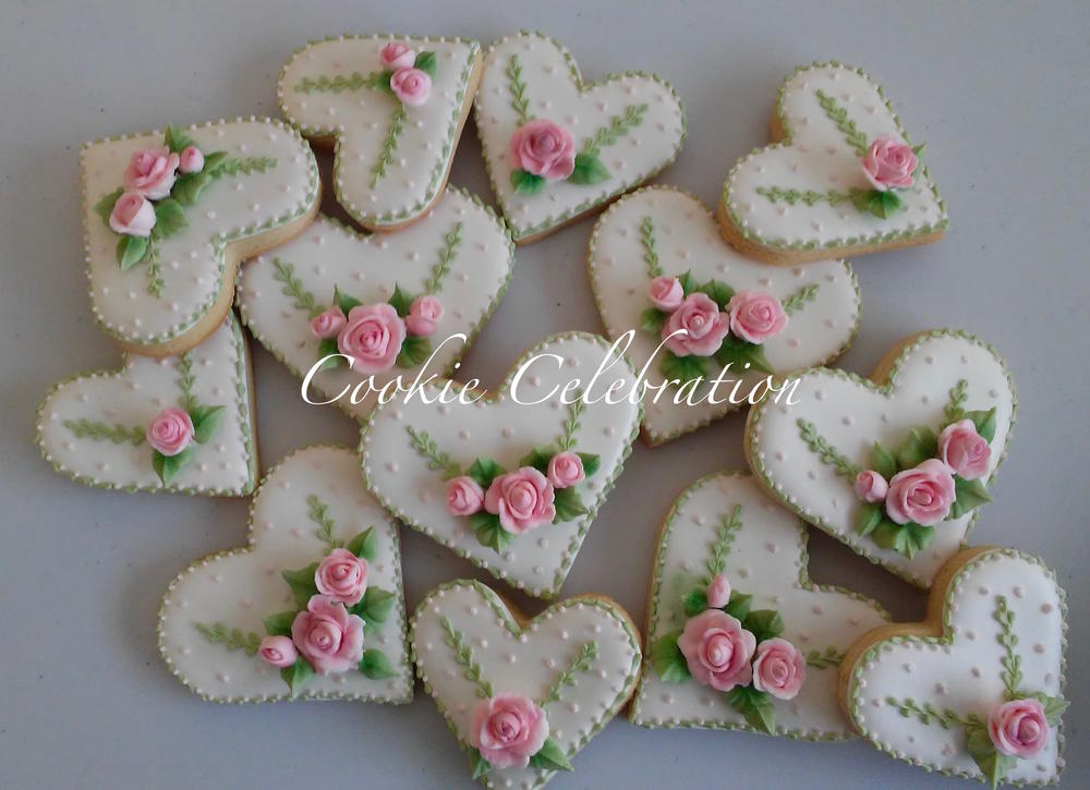 Heart Cookies by Cookie Celebration