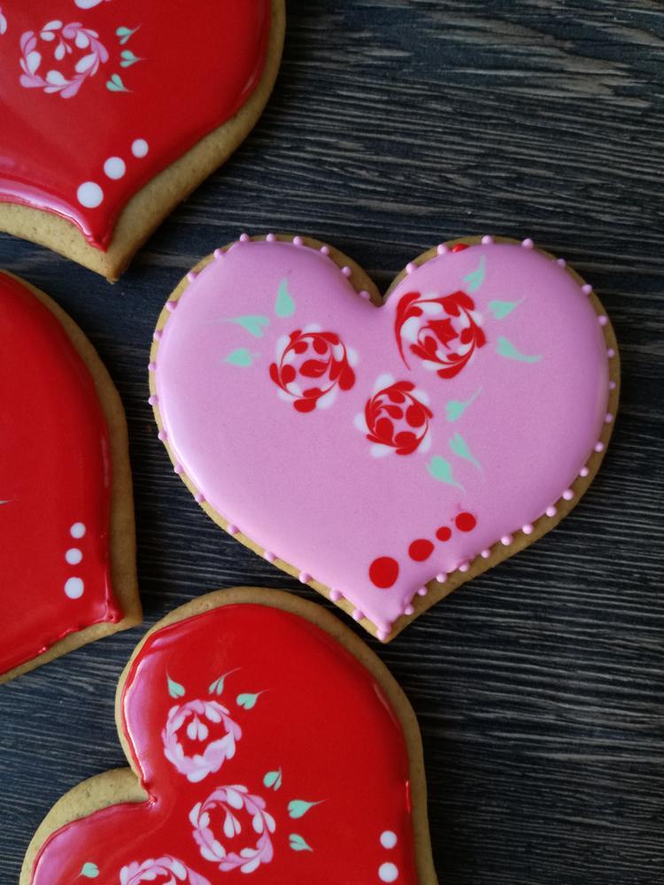 St. Valentine Pink Heart Cookie