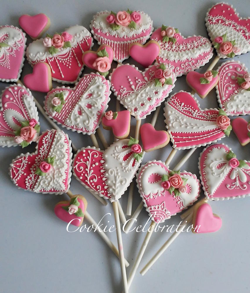 Hearts on Sticks (Cookie Celebration)