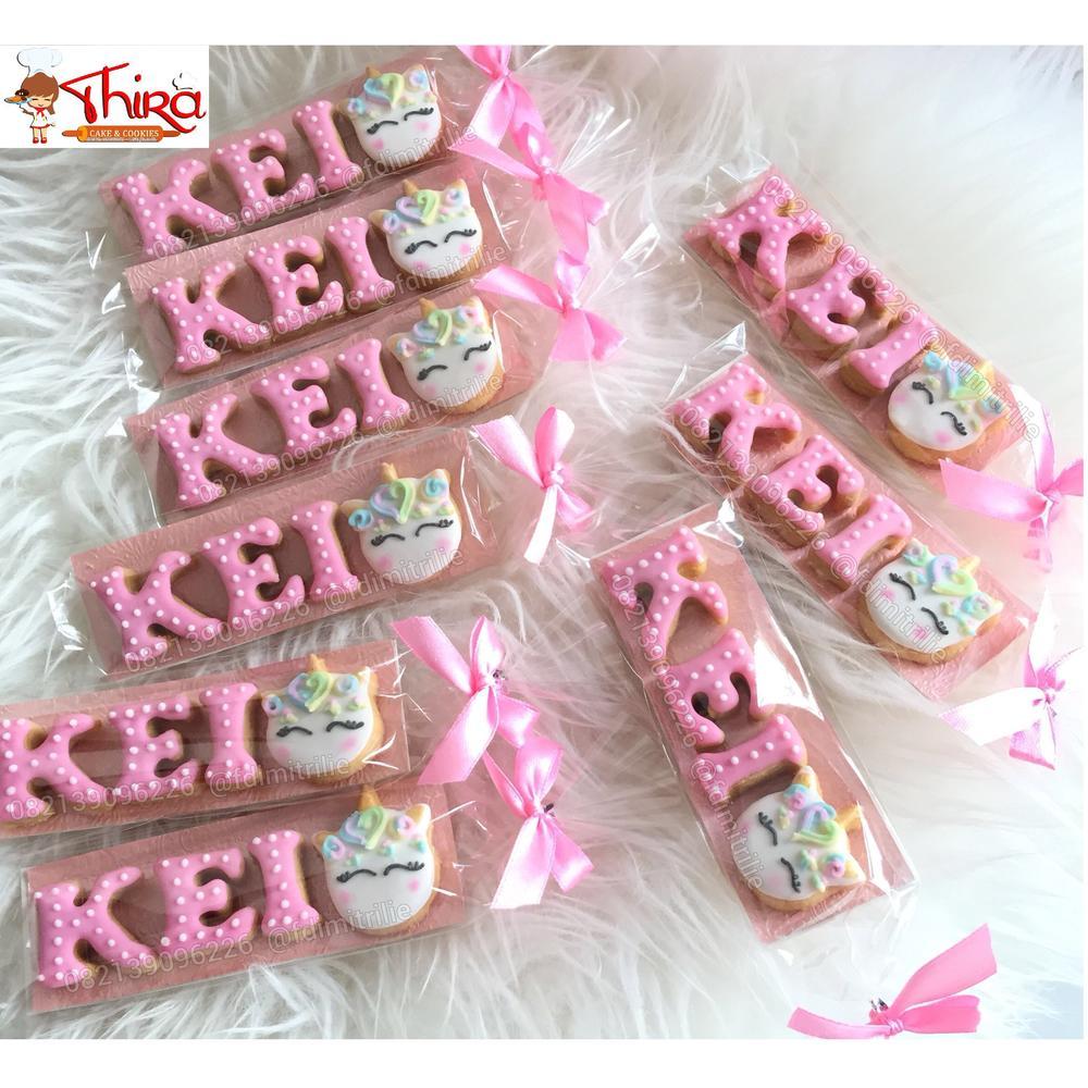Alphabet Cookies with Mini Unicorn