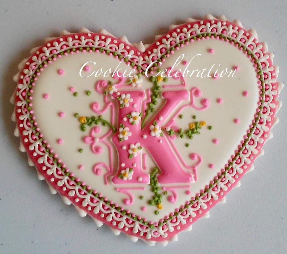 "Monogram Cookie ""K"" (Cookie Celebration)"