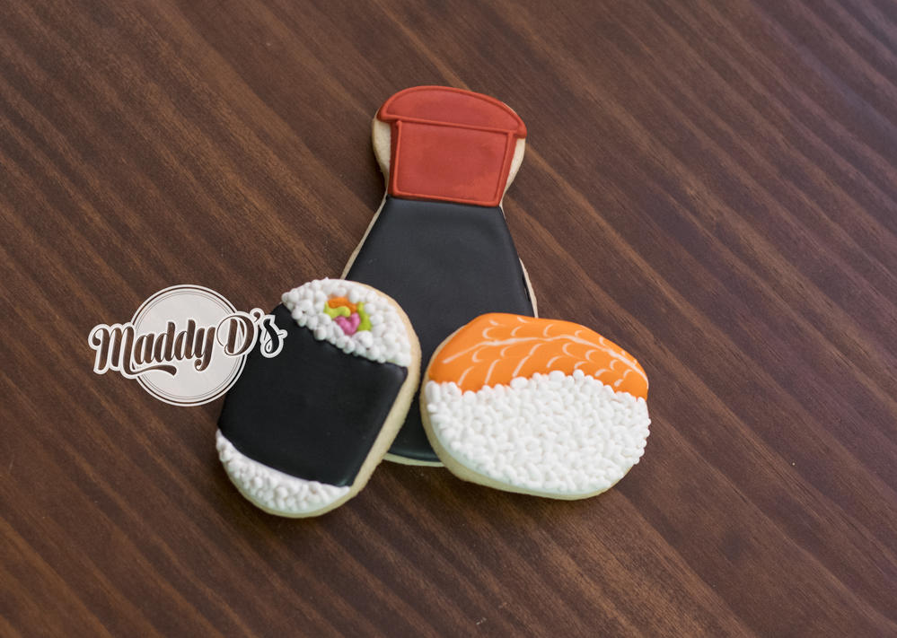 Sushi Cookies by Maddy Ds