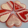 Red and Cream Hearts (Cookie Celebration)