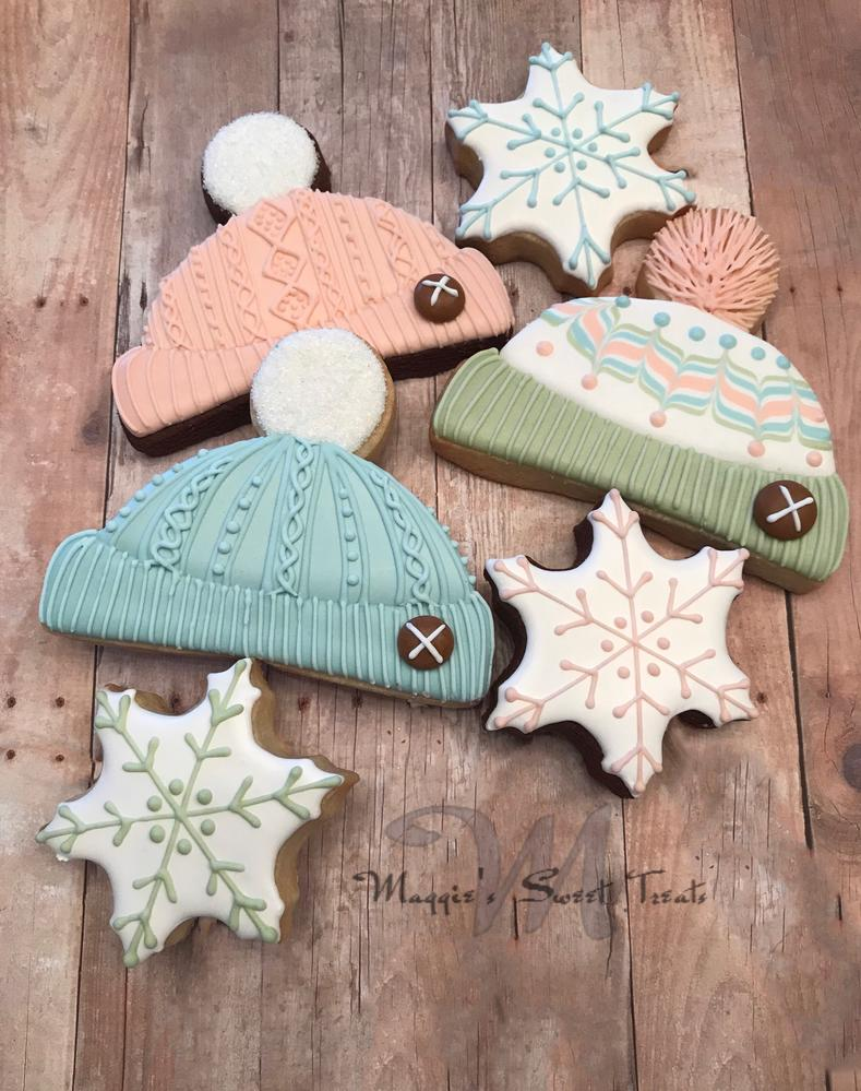 Knit Hat Cookies