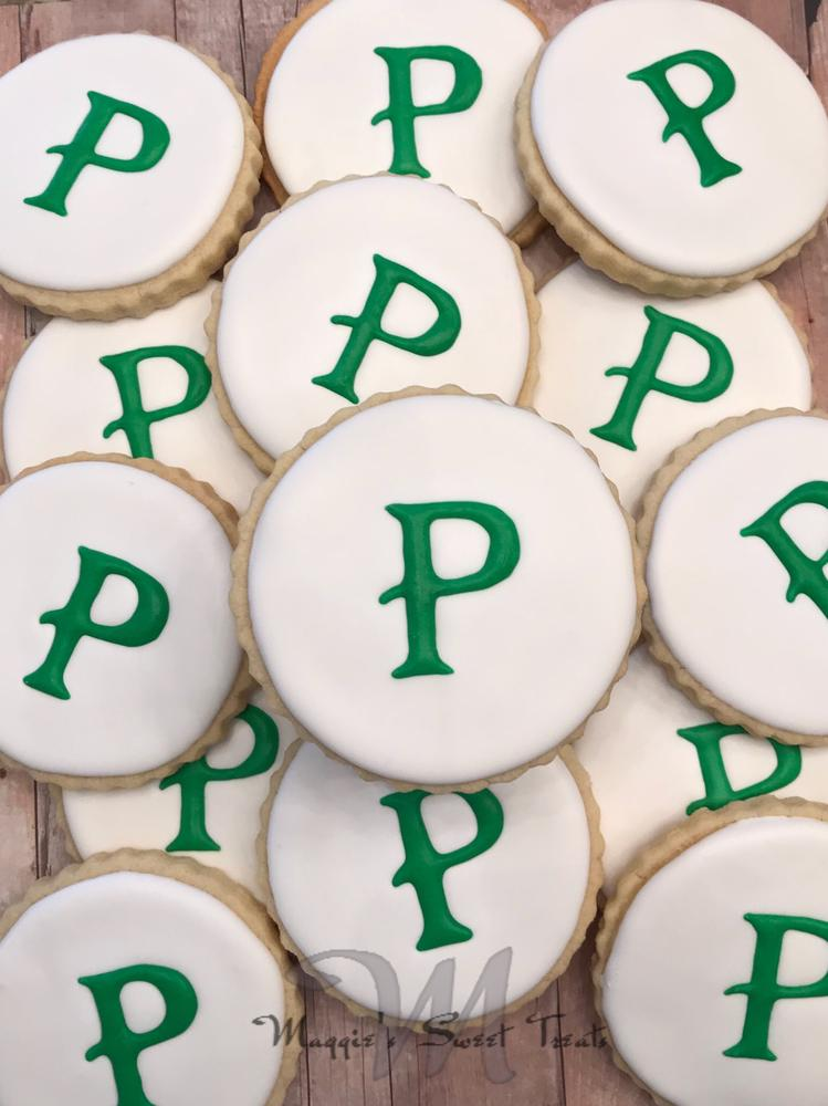 Simple Monogram Cookies