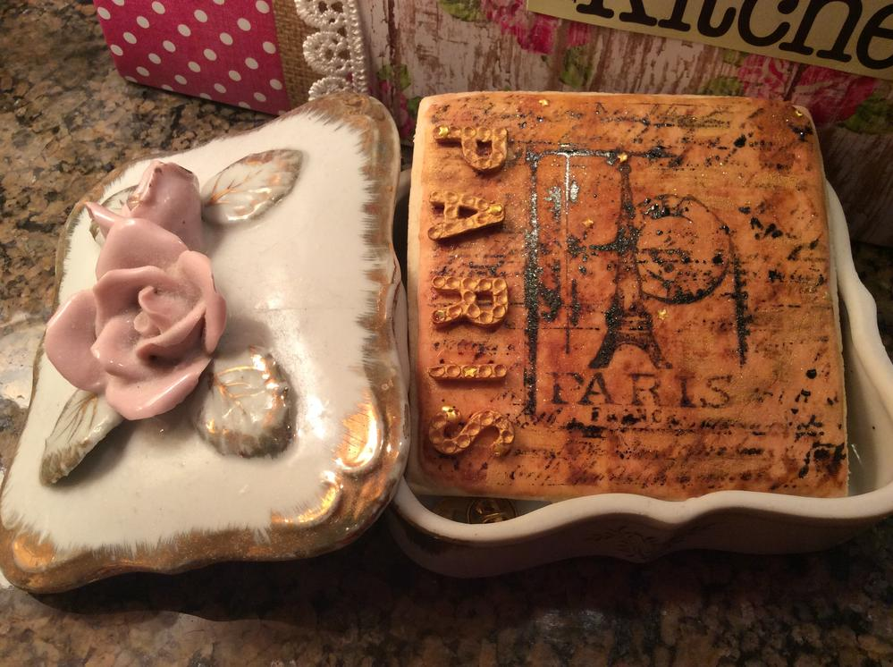 Paris in a porcelain rose box