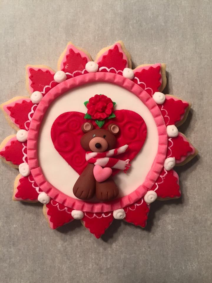Teddy Bear and Hearts