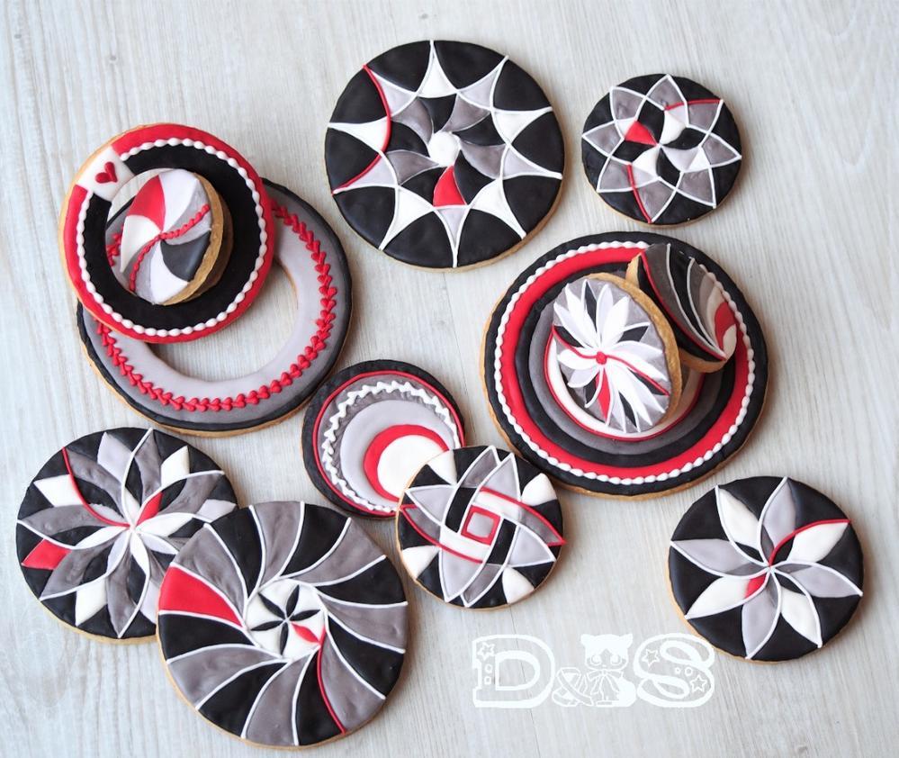Circle Cookies in Geometric Designs