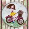 Girl on a bike cookie