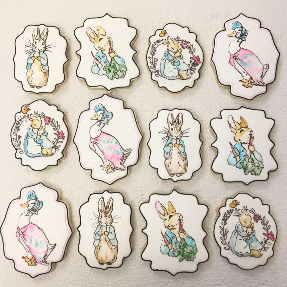 Beatrix potter cookies