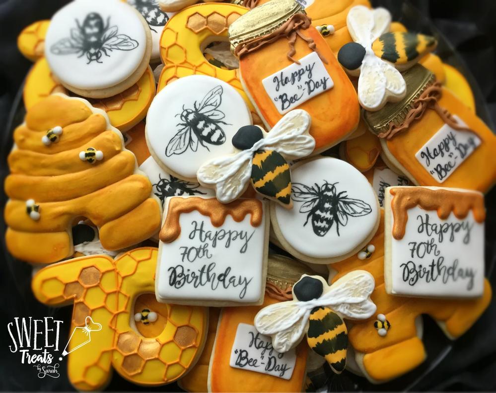 Honey Bee Birthday Cookies