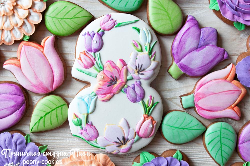 Spring Art Cookies by Peony Cookies Studio
