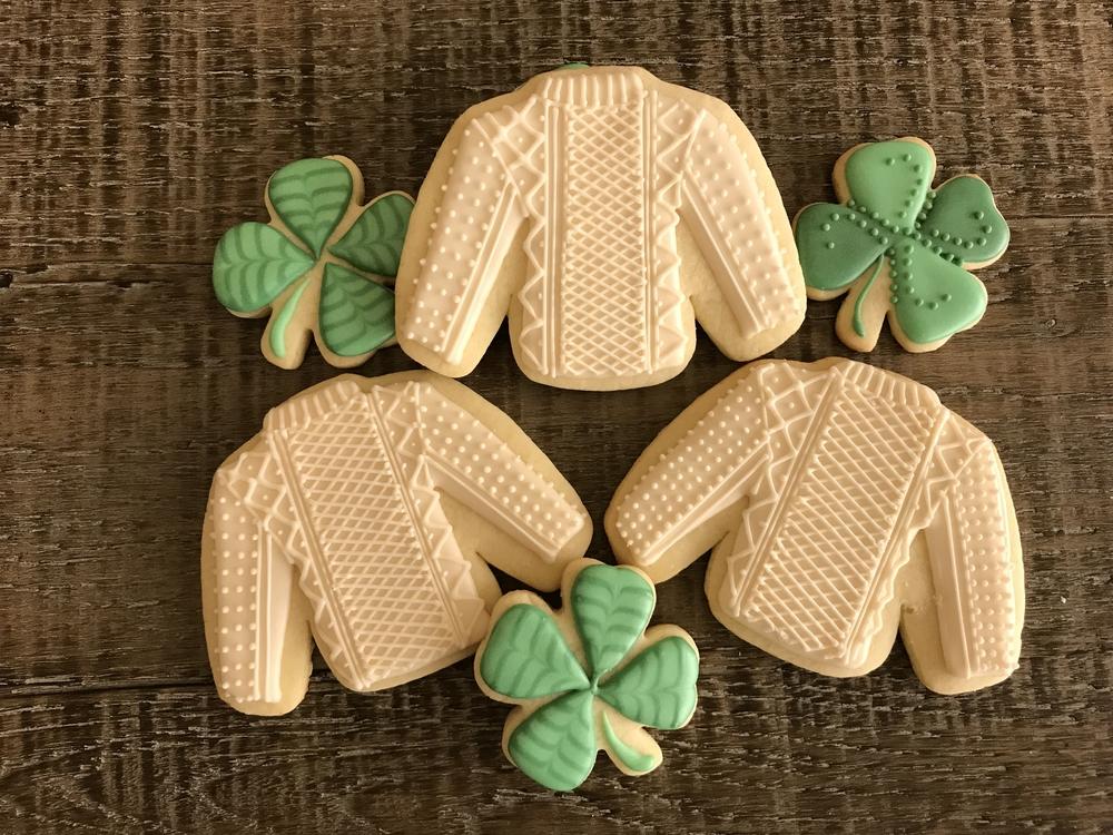 Irish Sweaters by Paige's Designer Cookies
