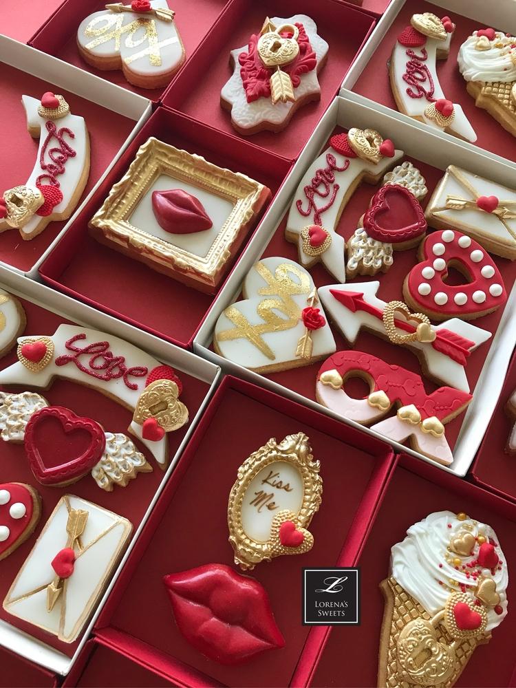 Lorena Rodríguez. Valentine's Day cookies