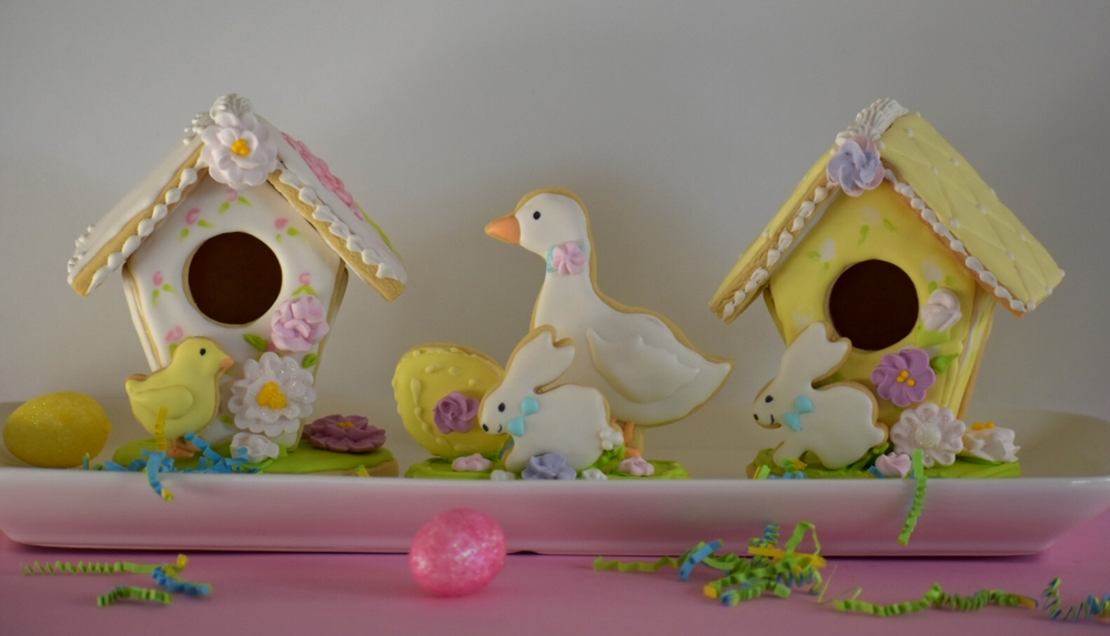 Easter Birdhouses, Chicks, and Bunnies