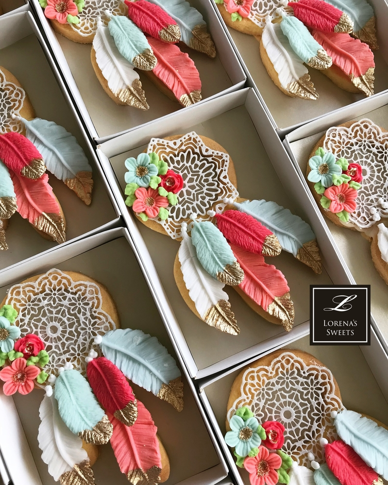 Lorena Rodriguez. Dream catcher cookies . Boho cookies