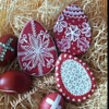 Traditional red eggs