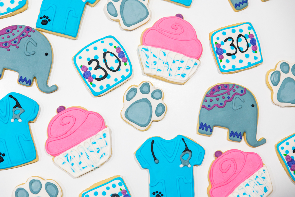 30th Birthday Animal Cookies!