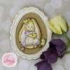 Vintage Bunny Frame Cookie