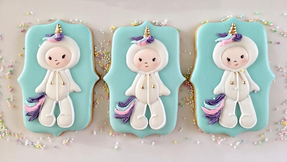 Unicorn babies cookies