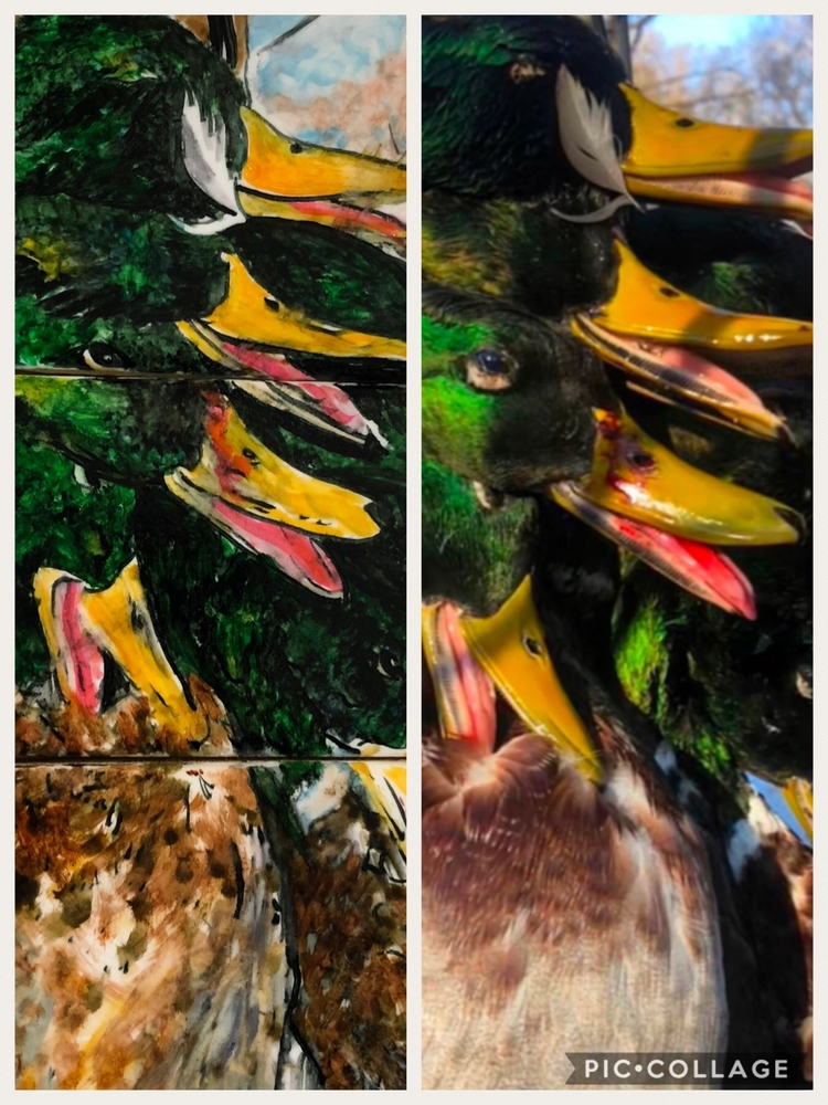 Handpainted Duck Haul
