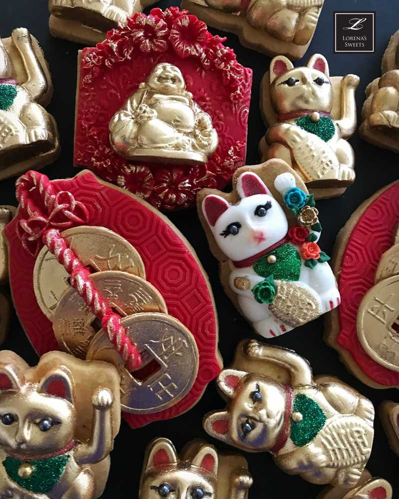 Lorena Rodriguez. New Year's Day cookies . Lucky charms