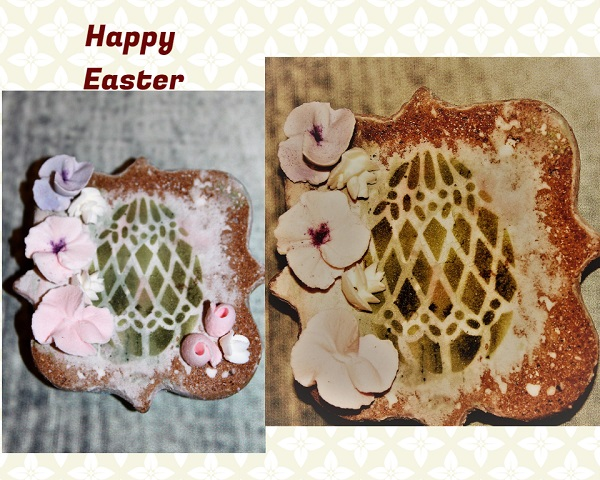 Easter faberge egg on cookie plaque