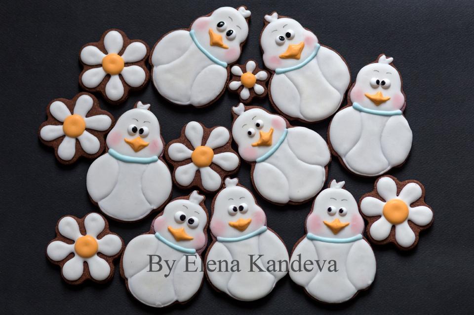 Baby duck (swan) cookies
