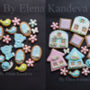 Spring and girl's BD cookies (animal, flowers, house)