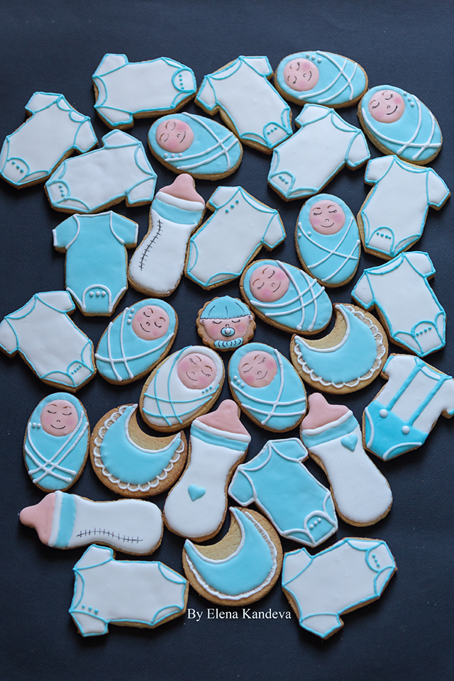 Baby Boy Shower Cookies Cookie Connection