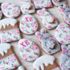 Easter rose set by Peony cookies studio