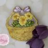Dimensional Basket of Gerbera Daisies for Mum Cookies 🌼🍃💞