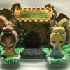 3-D Castle Cookie with Princesses - Side 1