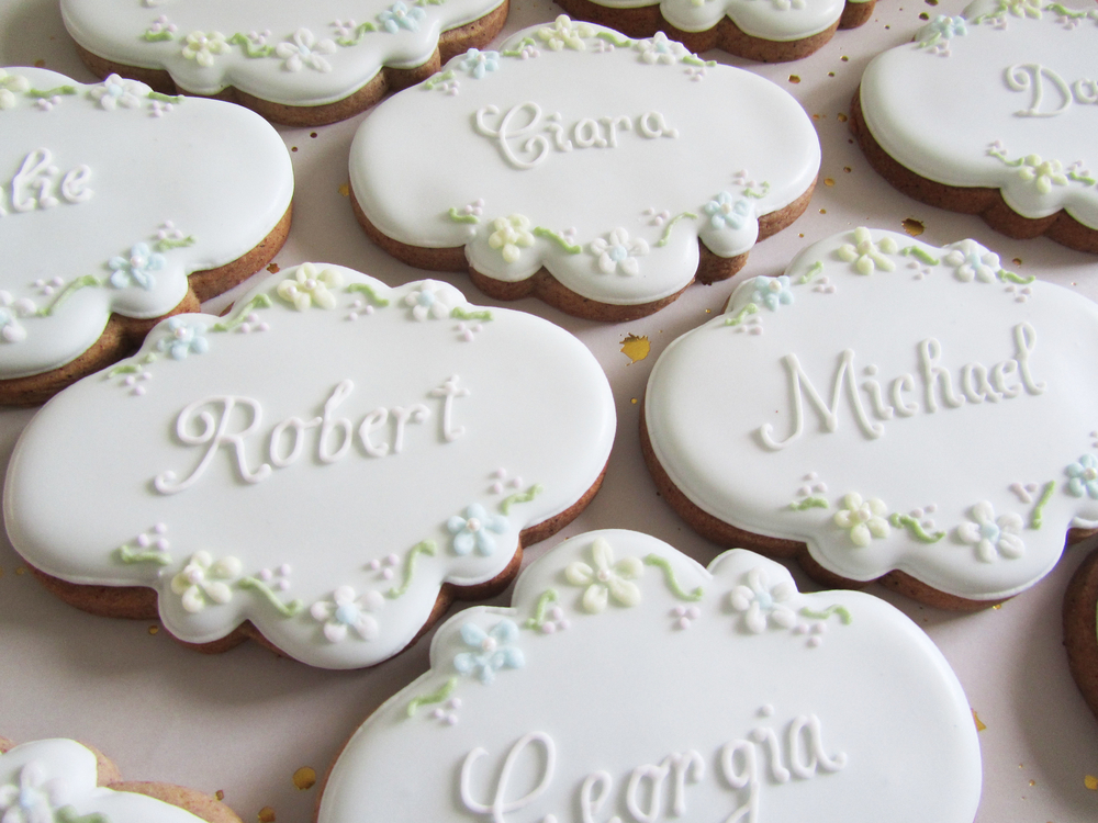 Wedding placecard cookies