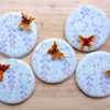Wisteria and Butterflies, A Honeycat Cookies Tutorial