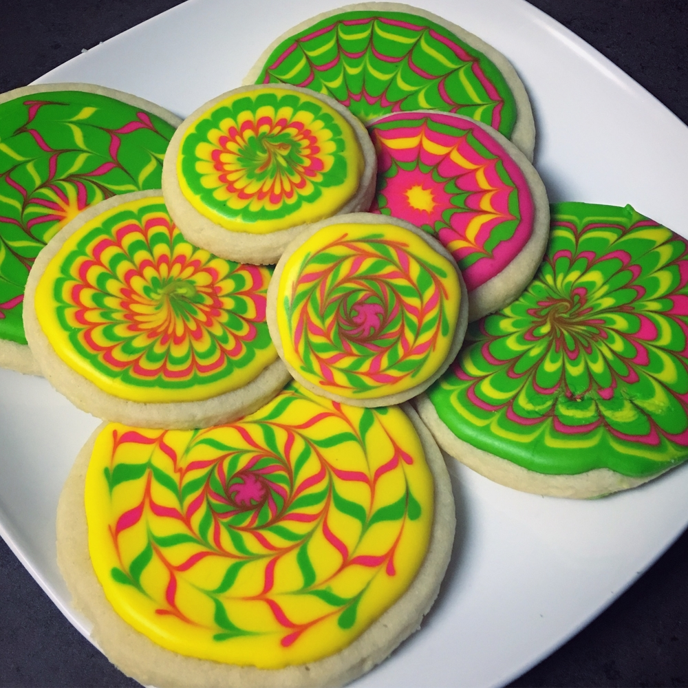 First Marbled Cookies! - Novice Decorator :)