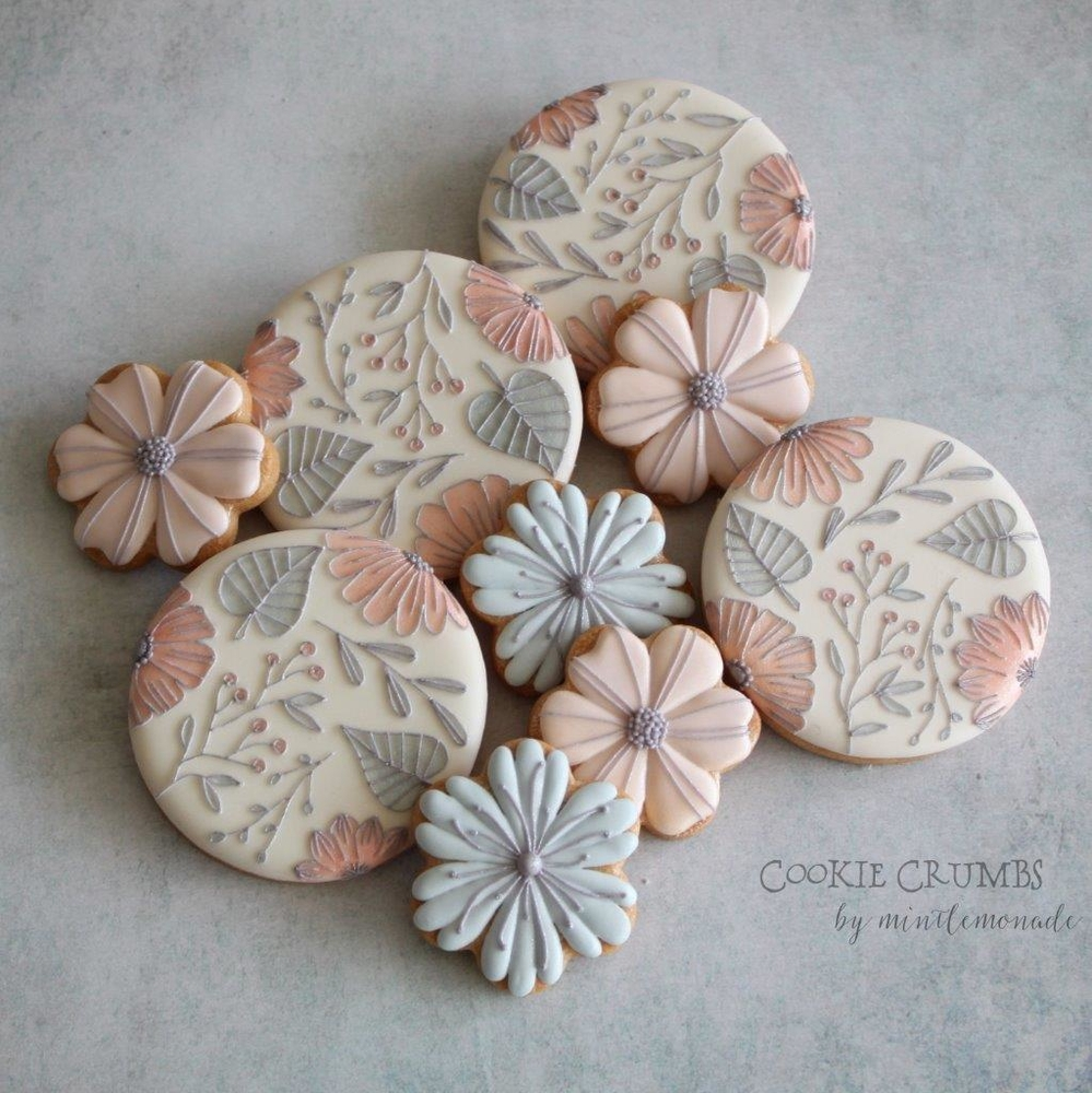 Pastel Botanical Cookies