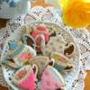 Rose Tea Set Cookies