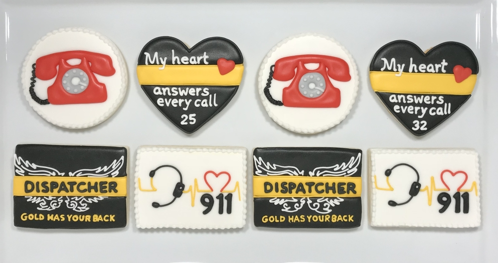 911 Dispatcher Cookies - Thank You For Your Service!