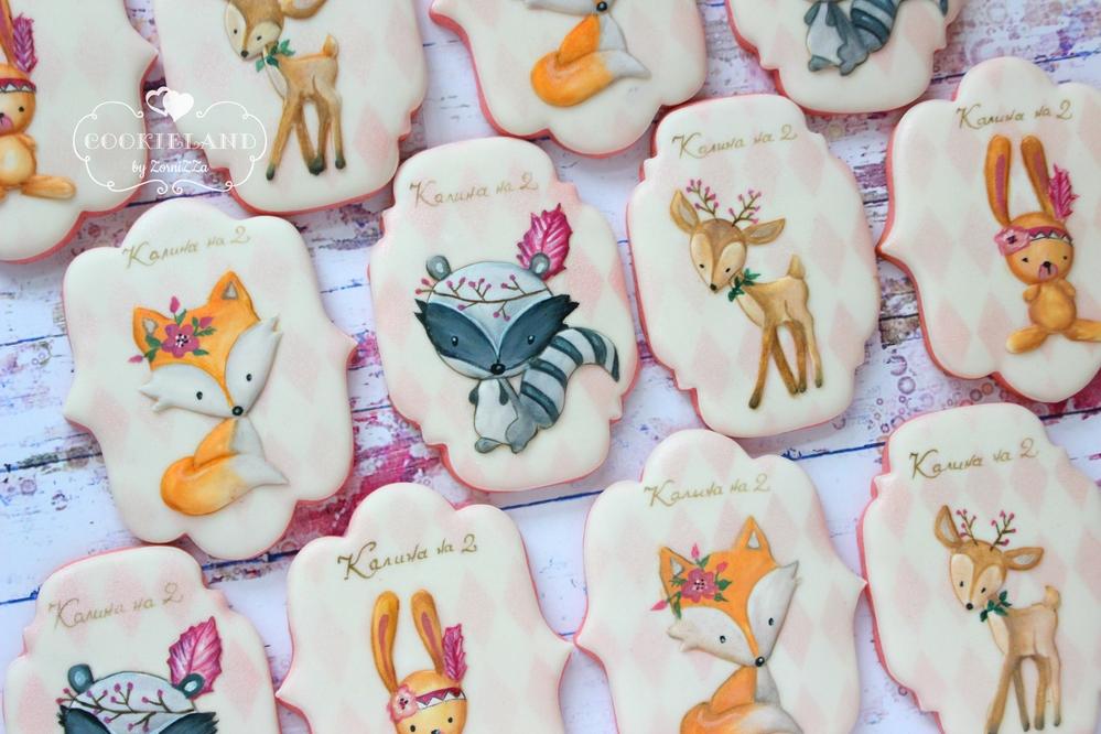 Boho-Style Woodland Cookies