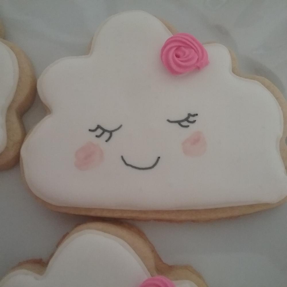 Cute cloud cookies
