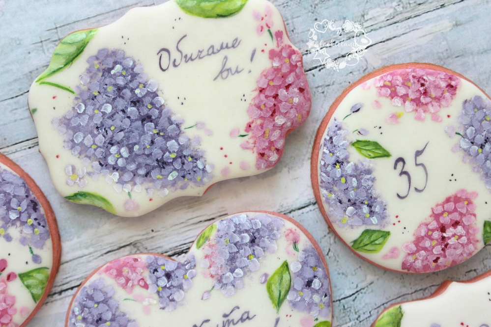 Lilac Cookies