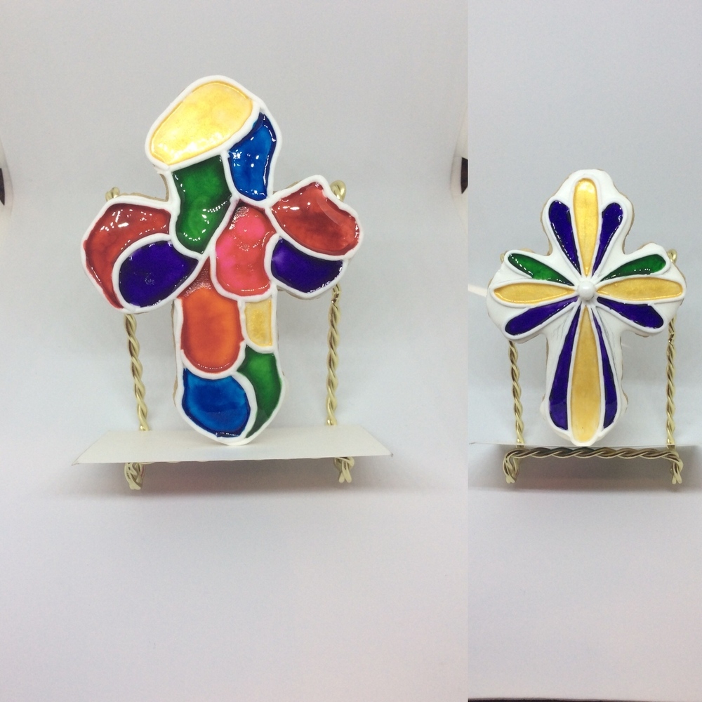 First communion stained glass set 3