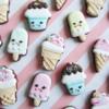 Mini Kawaii Ice Cream Cookies