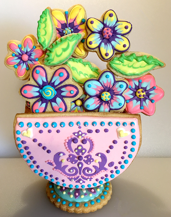 3-D Stenciled Basket Cookie - A Julia M Usher Project Tutorial