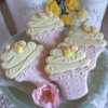 Pink lemonade cupcake cookies