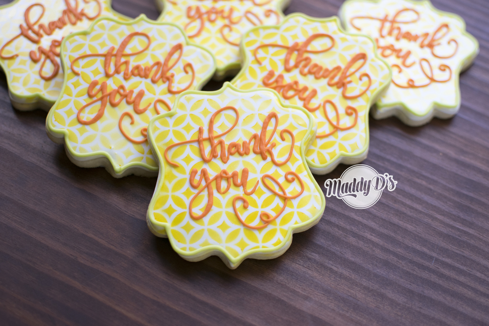 Bright Thank You Cookies