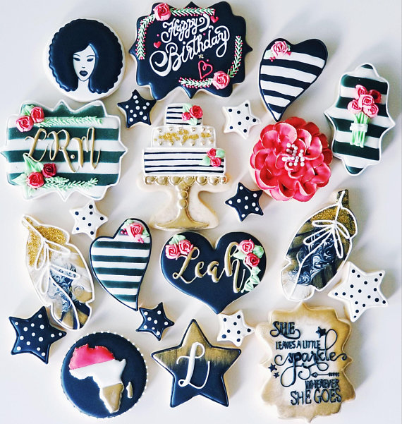 Personalized Birthday Cookie Platter