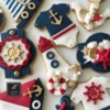 Lorena Rodríguez. Nautical cookies. Baby shower cookies