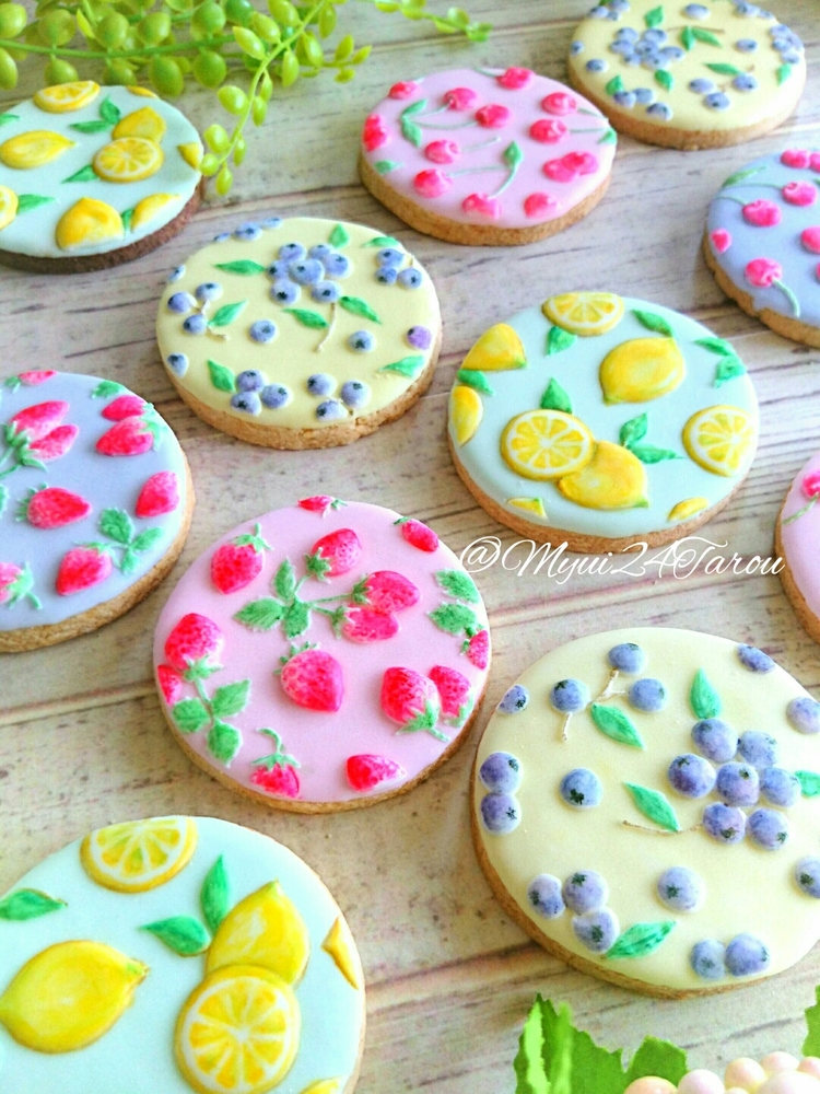 Fruit Pattern Cookies - Another View